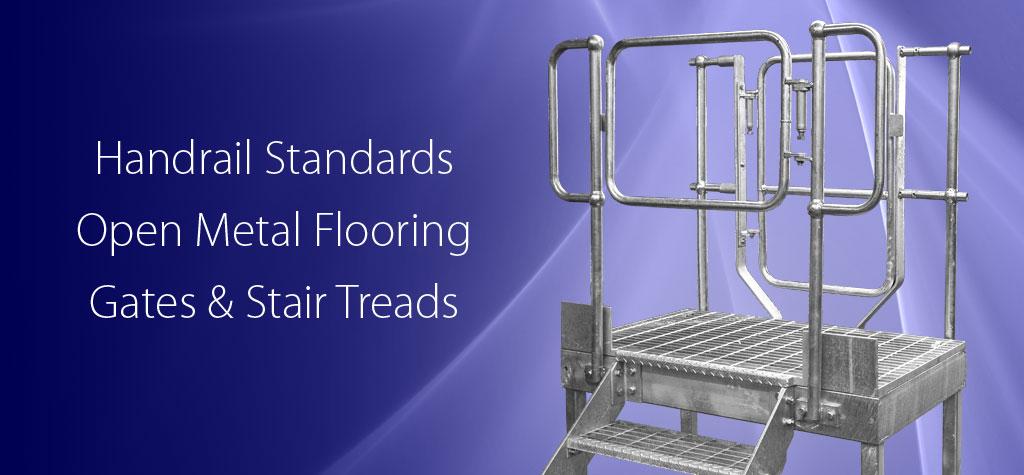 Handrailing and Open Steel Flooring